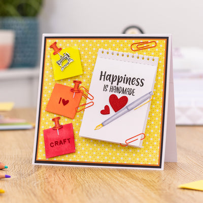 Sara Signature Collection by Crafters Companion - Crafty Fun - A6 Acrylic Stamp - Happiness is Handmade