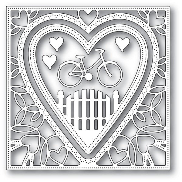 Memory Box Die - Neighborhood Heart Frame - 94102