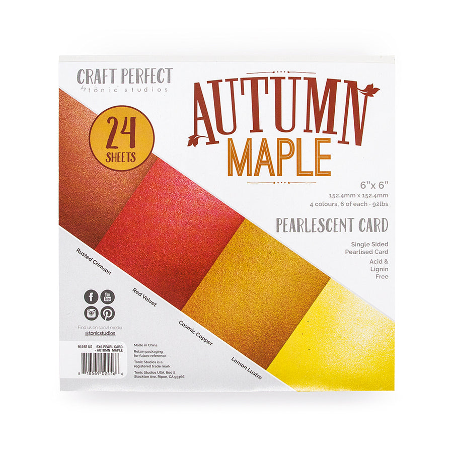 Tonic 6 x 6 Card pack - Autmn Maple - 9416e