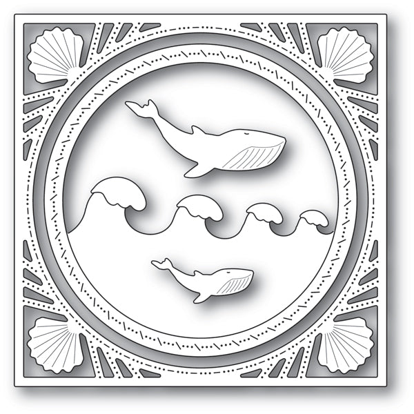 Memory Box Die - Wonderful Whale Frame - 94228
