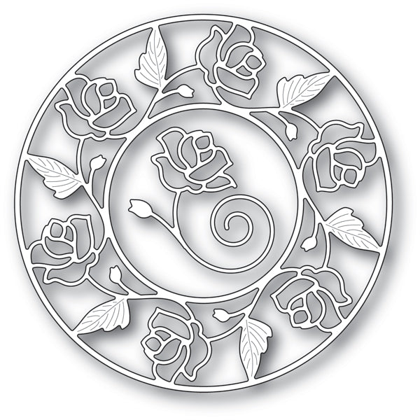Memory Box Die - Stained Glass Rose Circle Frame - 94231