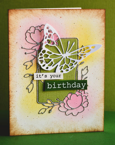Memory Box Open Studio - Big and Little Words Clear Stamp Set - CL5242