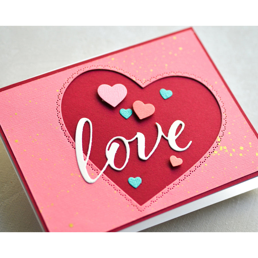 Memory Box Die - Scallop Pinpoint Loving Heart Cut Out - 94364