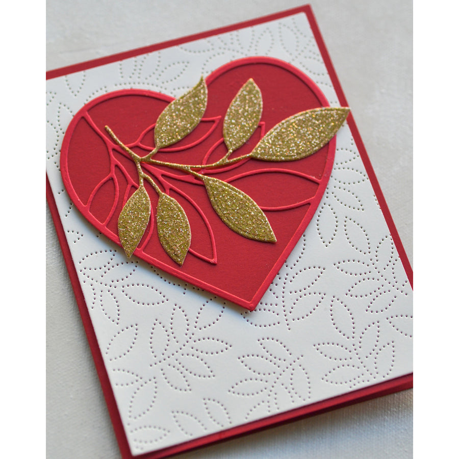 Memory Box Die - Verdant Leaf Loving Heart - 94379