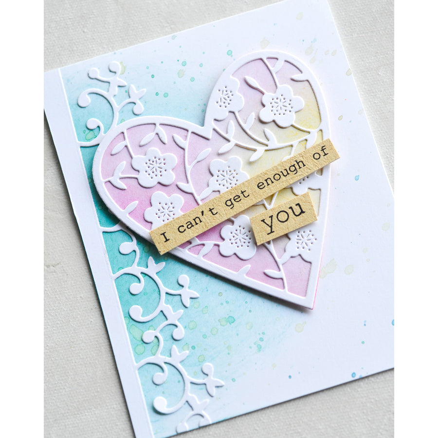 Memory Box Die - Double Stitch Happy Heart Cut Out - 94361