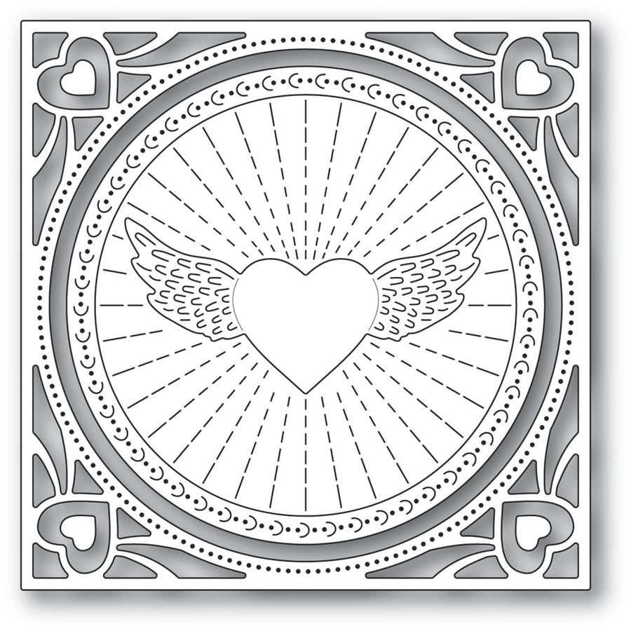 Memory Box Die - Winged Heart Frame - 94372