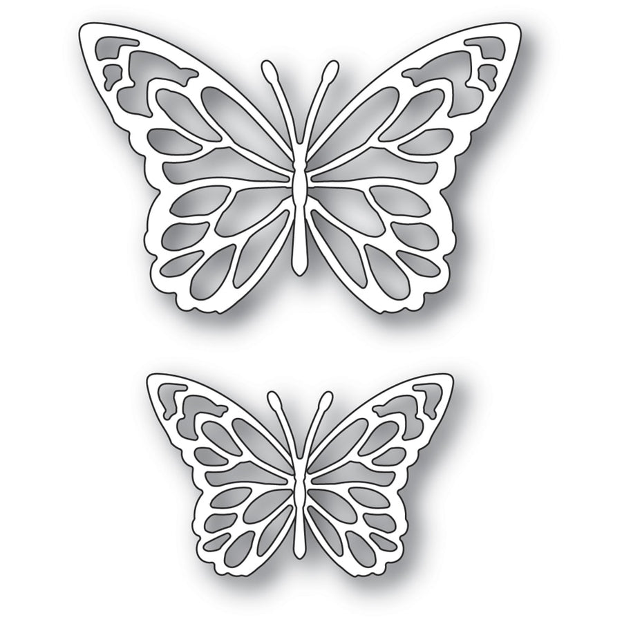 Memory Box Die - Gloriosa Butterfly Duo Outlines - 94383