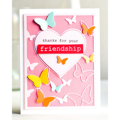 Memory Box - Friendship Floral Heart Stamp Set - CL5250