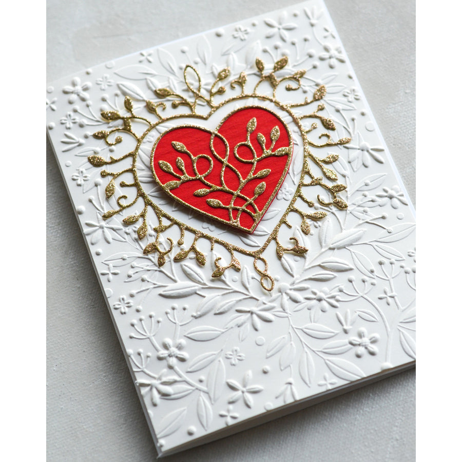 Memory Box Embossing Folder - Heart Bouquet 3D - EF1006