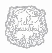 Sizzix Dies - Thinlits - Phrase, Hello Beautiful by Katelyn Lizardi - 661943