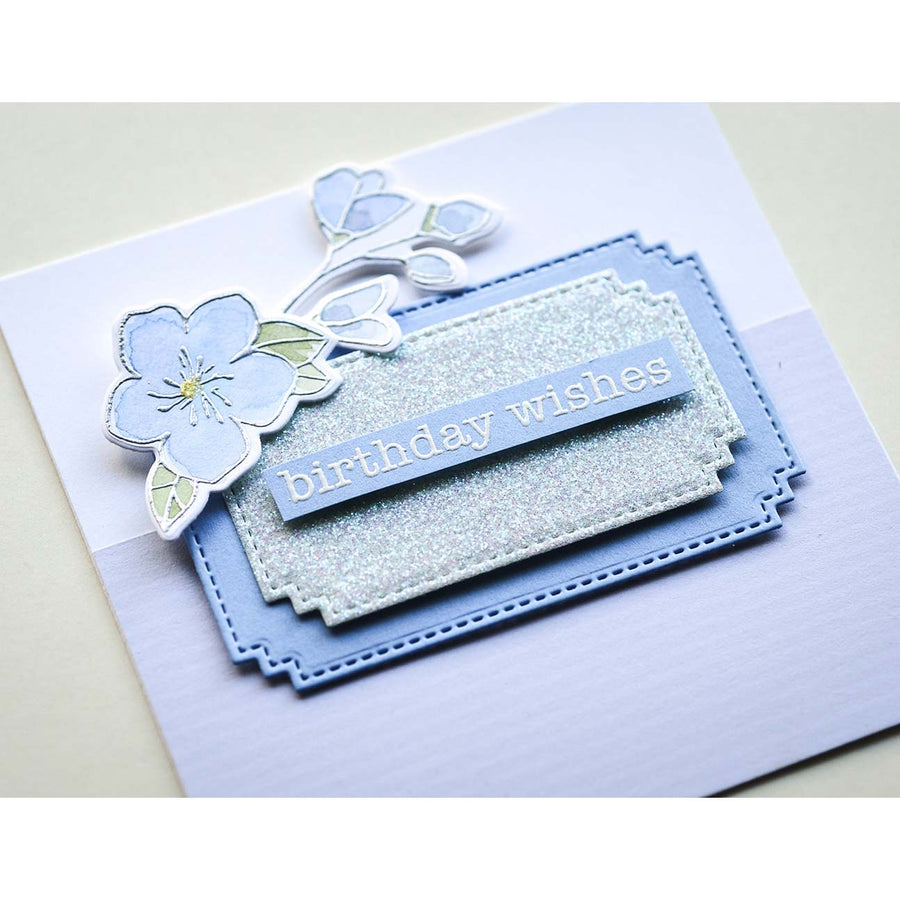 Memory Box Die - Matinee Rectangle Layers - 94438