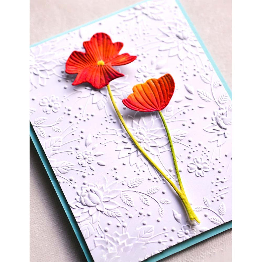 Memory Box 3D Embossing Folder - Chrysanthemum Field - EF1001