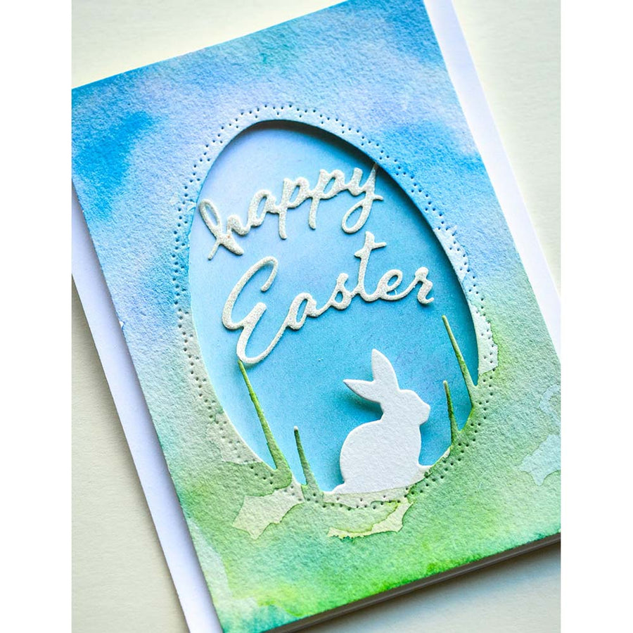 Memory Box Die - Arched Happy Easter - 94446