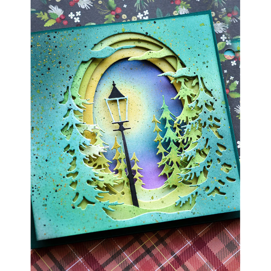 Memory Box Die - Small Pine Tree Collage - 94503