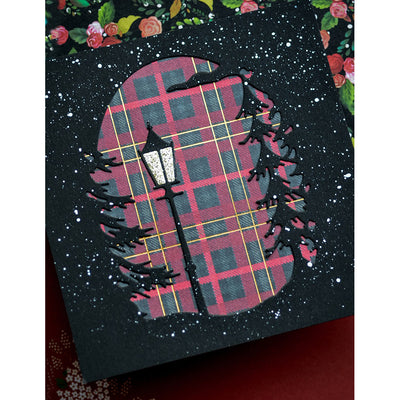 Memory Box Die - Lamplight Tree Collage - 94501