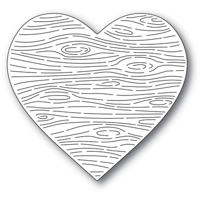 Memory Box Die - Woodgrain Heart - 94552