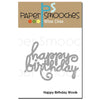 Paper Smooches Dies - Happy Birthday Words