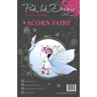 Pink Ink Designs Stamp - Acorn Fairy