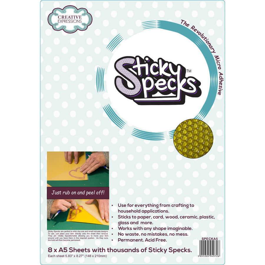 Creative Expressions Sticky Specks Micro Adhesive Sheets (8 x A5)