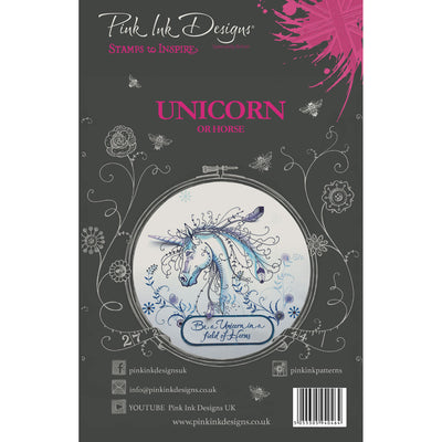 Pink Ink Designs Stamp - Unicorn