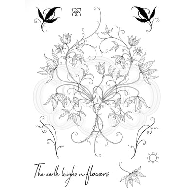 Pink Ink Designs Stamp - Classic Clematis