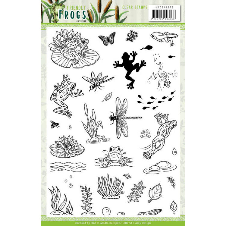 Amy Design - Friendly Frogs - Clear Stamp