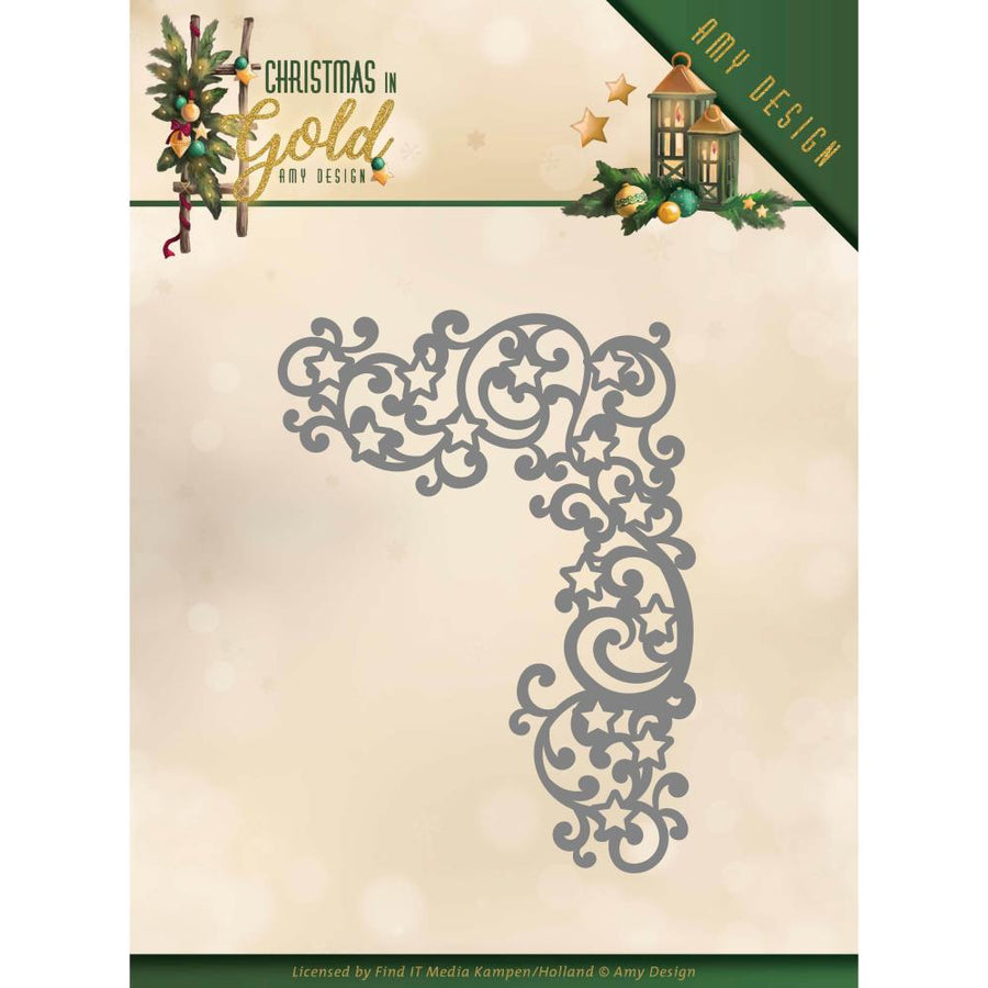 Amy Design - Christmas In Gold - Cutting Die - Golden Corner