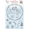 Angela Poole Photopolymer Stamp Set - Beautiful Moments Cold Days, Warm Hearts - Mistletoe Kisses