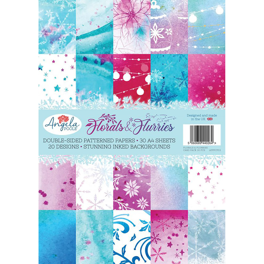 Angela Poole - Florals & Flurries A4 Card Pack