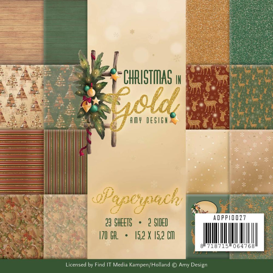 Amy Design - Christmas In Gold - Paper Pack