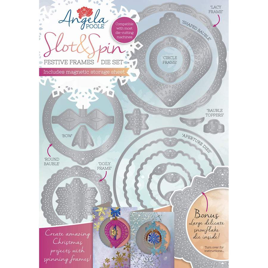 Angela Poole Die Set - Slot & Spin Festive Frames