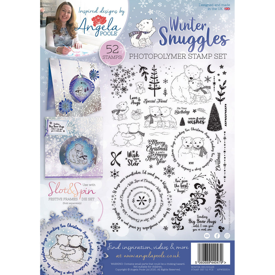 Angela Poole A4 Photopolymer Stamp Set - Winter Snuggles