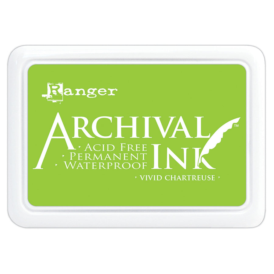 Ranger Archival Ink Pad - Vivid Chartreuse