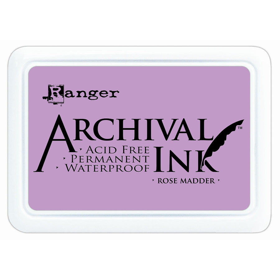 Ranger Archival Ink Pad - Rose Madder