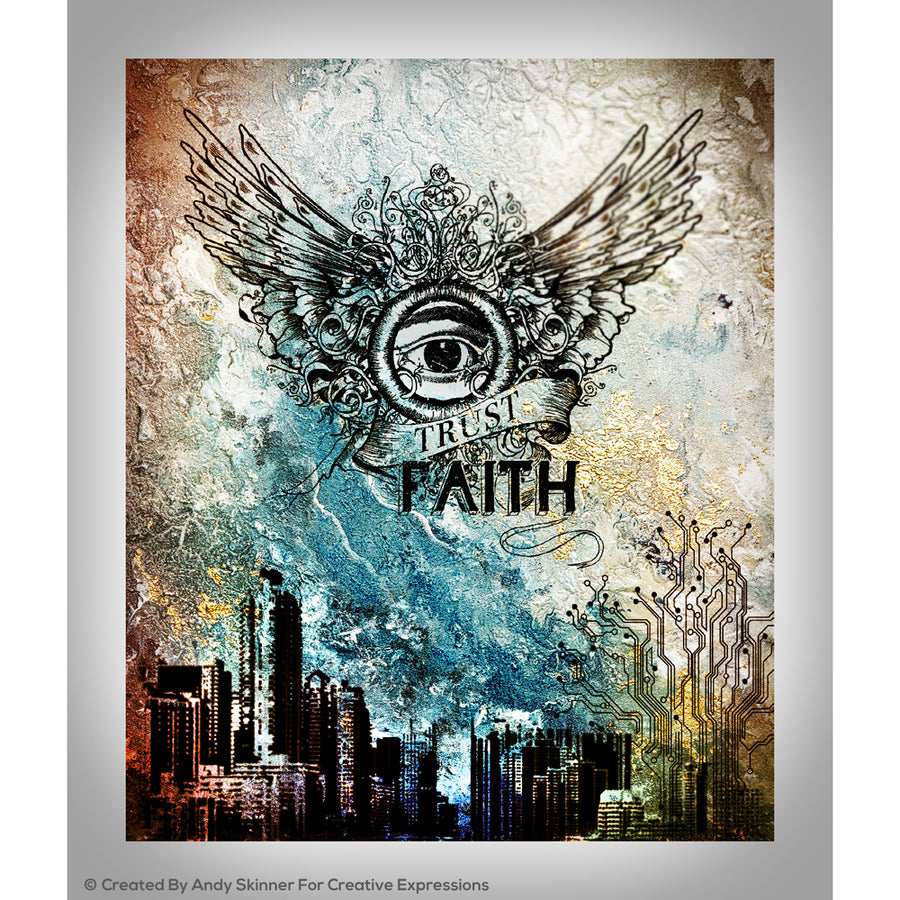 Andy Skinner Stamps by Creative Expressions - Faith