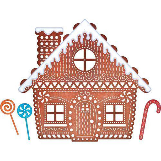 Cheery Lynn Designs Die - Gingerbread House - B606