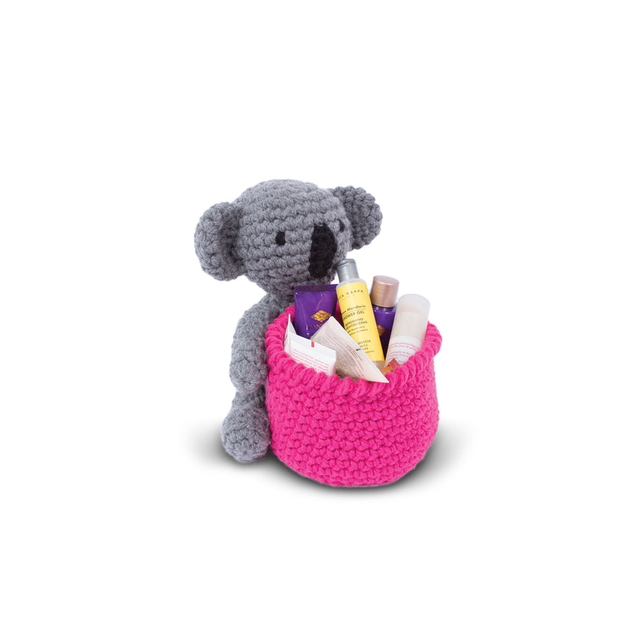 Knitty Critters Crochet Kit - Basket Buddies - Kian Koala