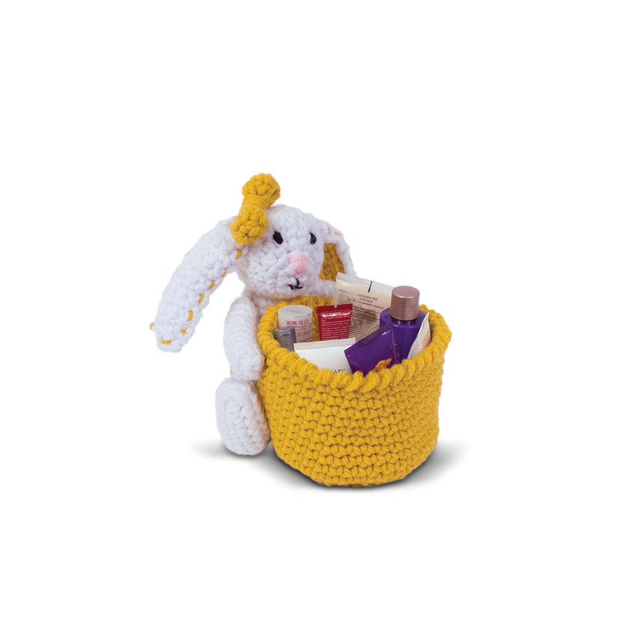 Knitty Critters Crochet Kit - Basket Buddies - Betty Bunny