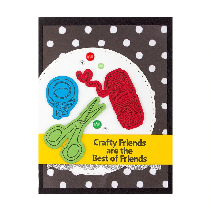 Spellbinders Stamp & Die Set - Craft Happy -  BD-0595