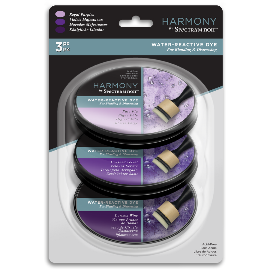 Spectrum Noir Ink Pad - Harmony Water Reactive 3PC (Regal Purples)