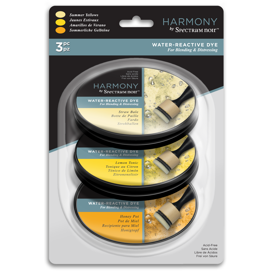 Spectrum Noir Ink Pad - Harmony Water Reactive 3PC (Summer Yellows)