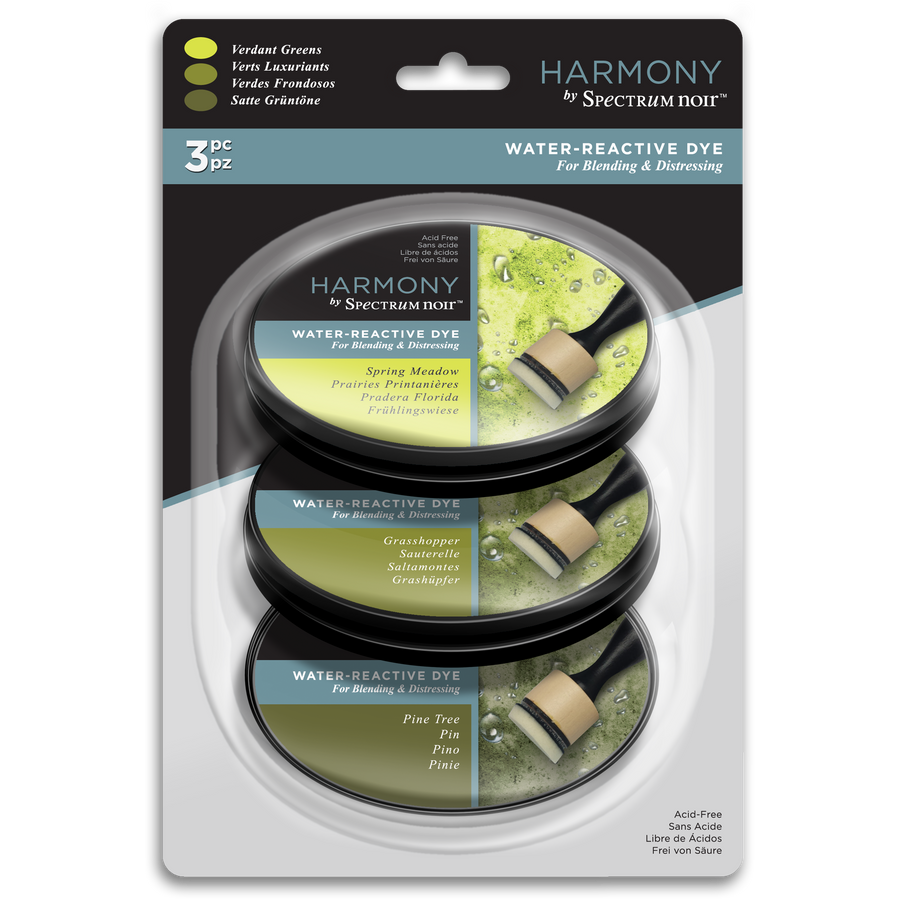 Spectrum Noir Ink Pad - Harmony Water Reactive 3PC (Verdant Greens)