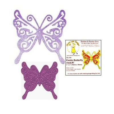 Cheery Lynn Designs Doily Dies - Exotic Butterfly Large #1 (DL117)