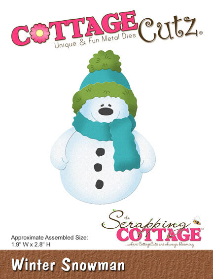 Cottage Cutz Die - Winter Snowman - CC-199