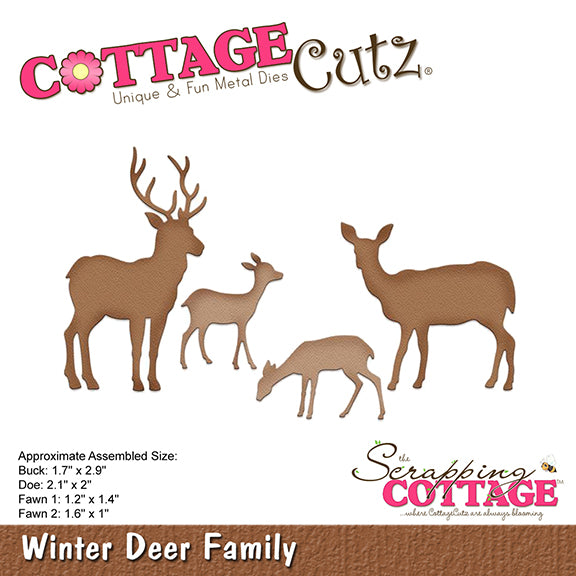 Cottage Cutz Elites Die - Winter Deer Family - CC-376