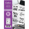 Crafter's Companion A6 Unmounted Rubber Stamp - Love is all you Need