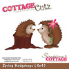 Cottage Cutz Die - Spring Hedgehogs (4x4) - CC4x4-566