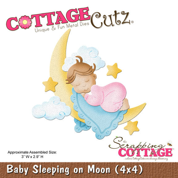 Cottage Cutz Die - Sleeping on Moon (4x4) - CC4x4-579