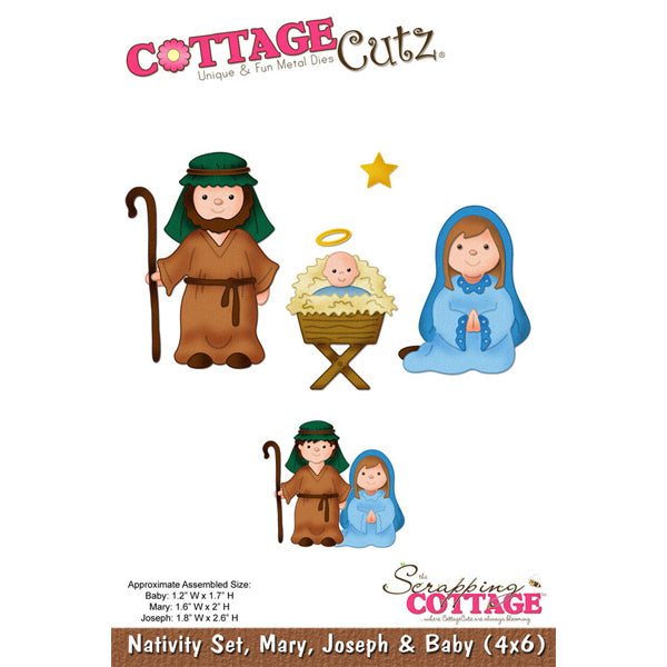 Cottage Cutz Die - Nativity Set (4x6) - CC4x6-025