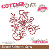 Cottage Cutz Die - Elegant Poinsettia Spray - CCE-036